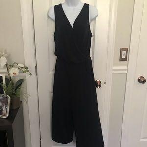 Black wrap jumpsuit
